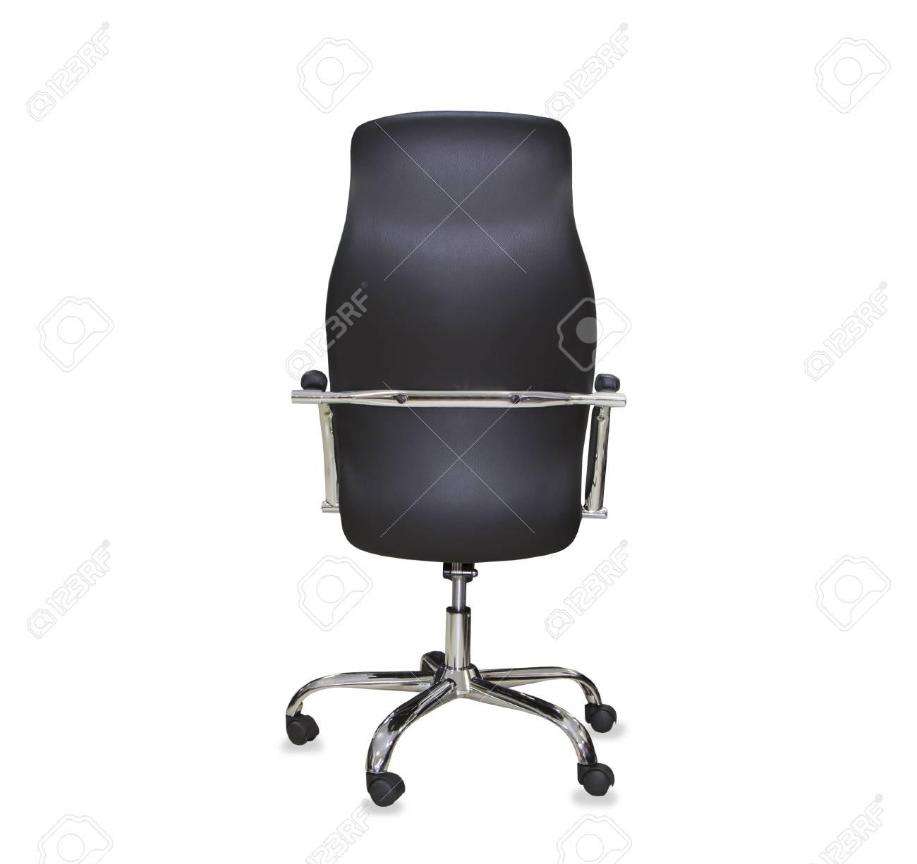 Dos La Cuir Chaise NoirIsolé Vue De Bureau Moderne CWrQdxBoe