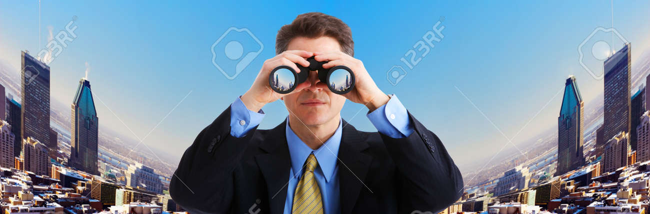 Image result for businessman with binoculars