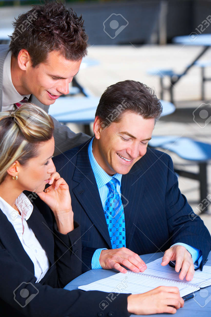 Business  people meeting in the downtown. Stock Photo - 3982091