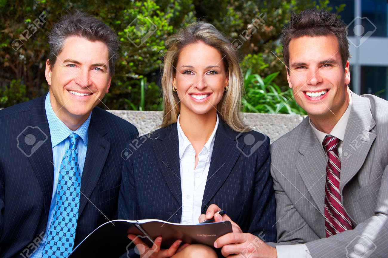 Business  people meeting in the downtown. Stock Photo - 3982095