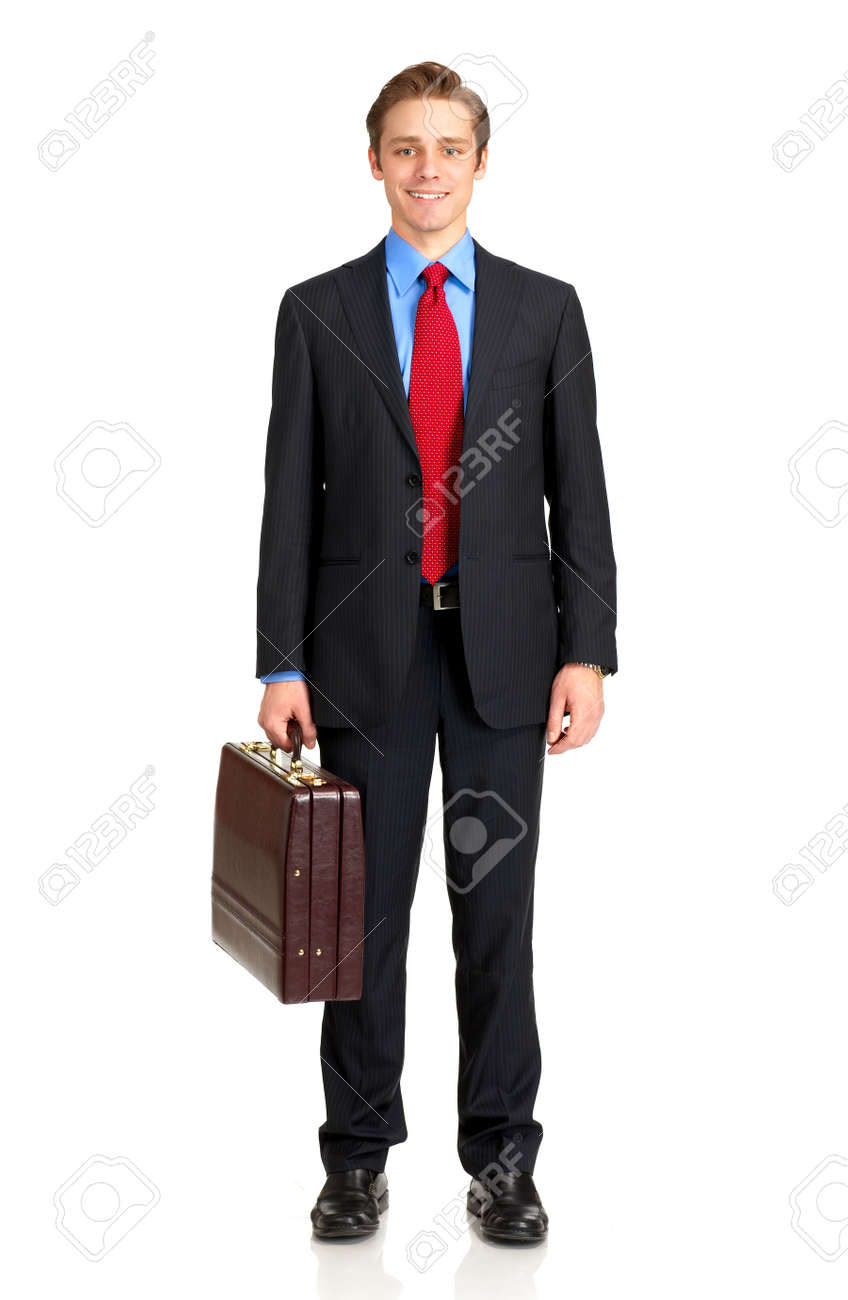 Young  smiling businessman. Isolated over white background Stock Photo - 4108565