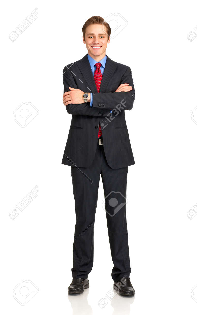Young  smiling businessman. Isolated over white background Stock Photo - 4108505