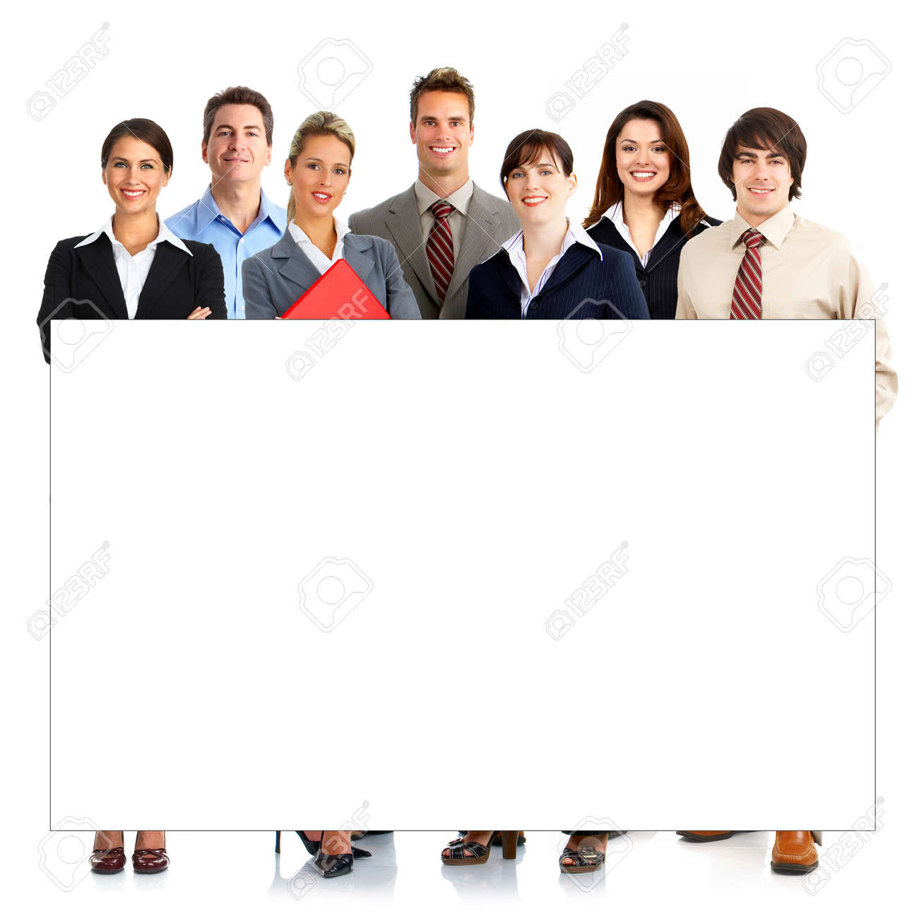 Young smiling  business people. Isolated over white background Stock Photo - 4108516
