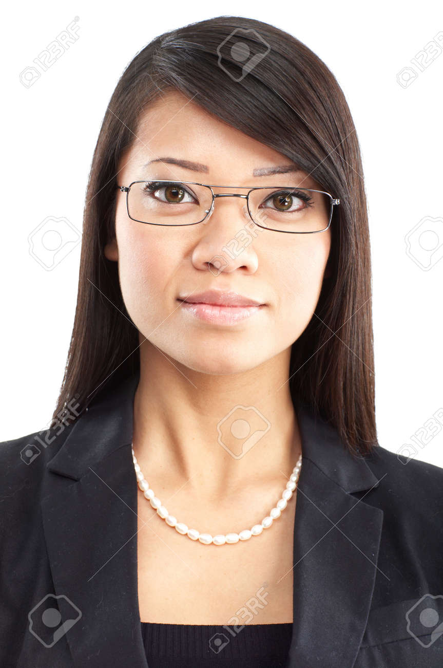 Smiling business woman. Isolated over white background Stock Photo - 4752250