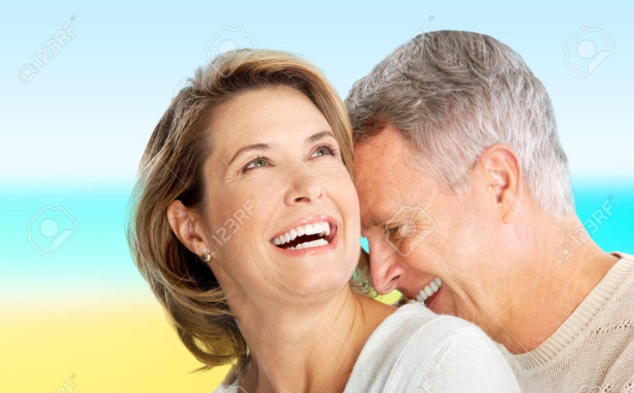 Happy elderly seniors couple in love outdoor Stock Photo - 6222395