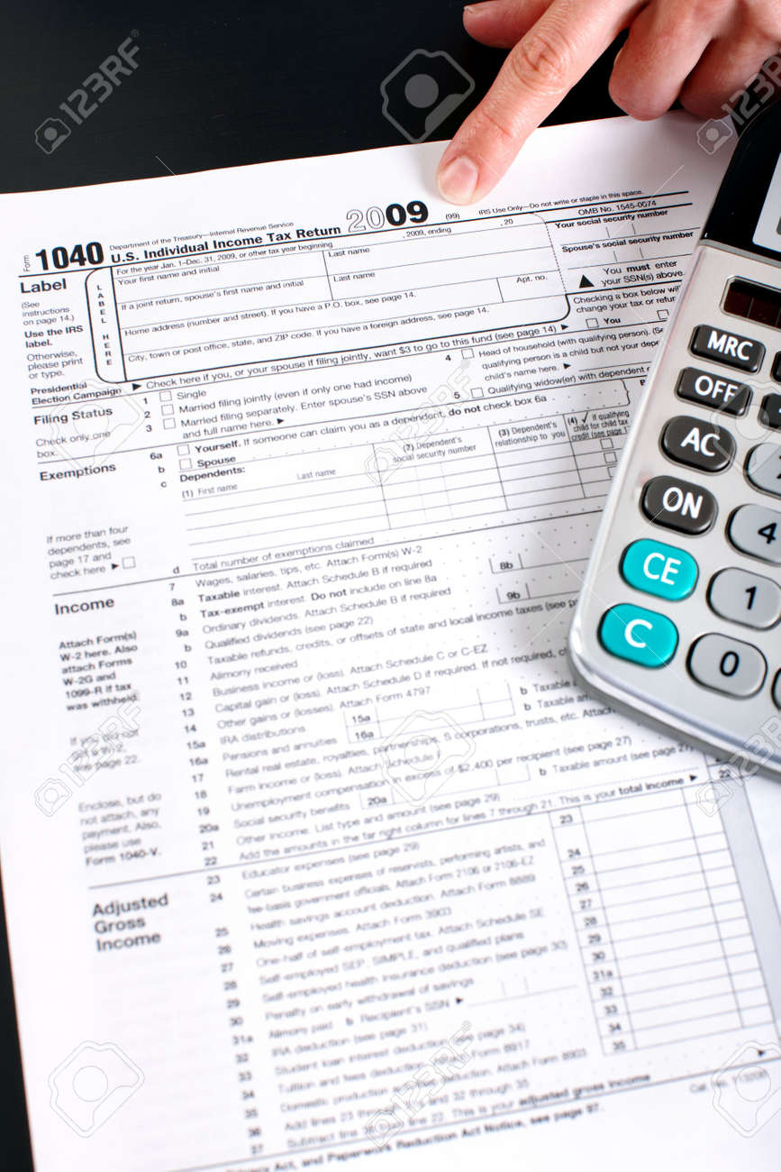 Form 1040  Standard US Income Tax Return  Calculator