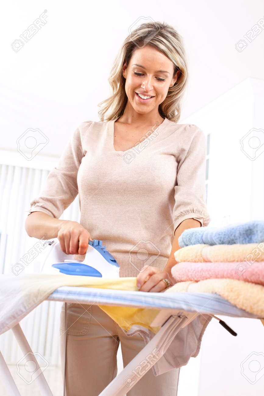 Iron Woman Woman Ironing Clothes