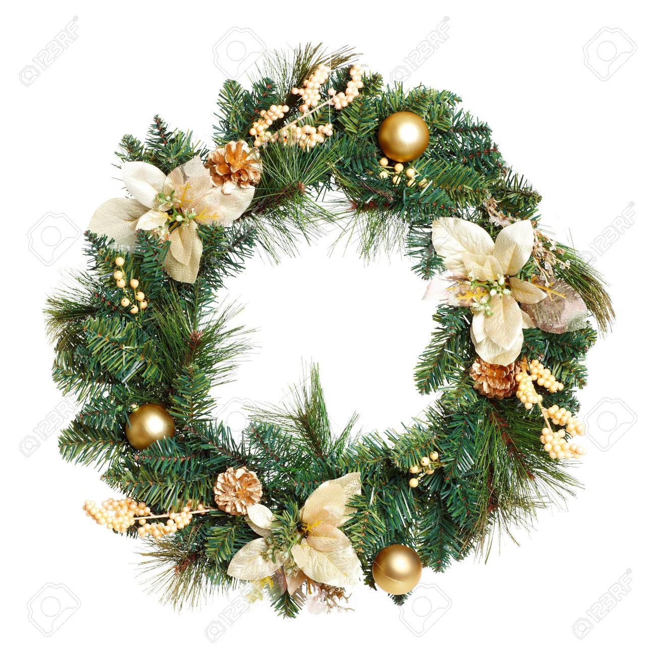 Christmas Tree Decoration garland. Isolated over white background Stock Photo - 7955845