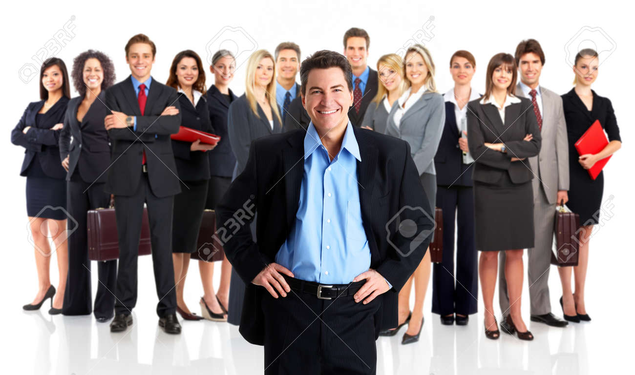 Group of business people. Business team. Isolated over white background Stock Photo - 8074281