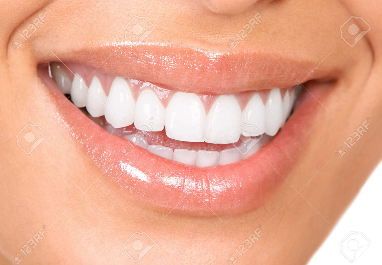 Healthy woman teeth and smile. Close up. Stock Photo - 8863900