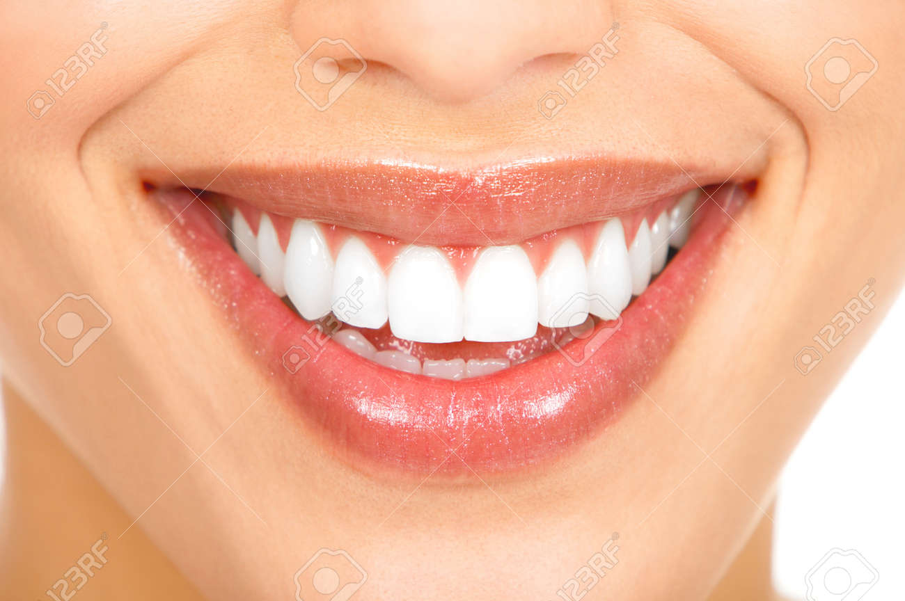 Healthy woman teeth and smile. Close up. Stock Photo - 8863904