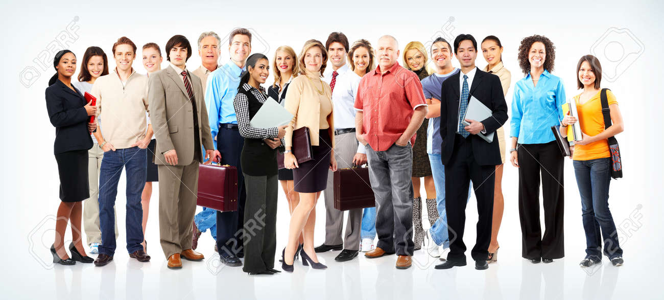 Group of business people. Business team. Stock Photo - 8863918