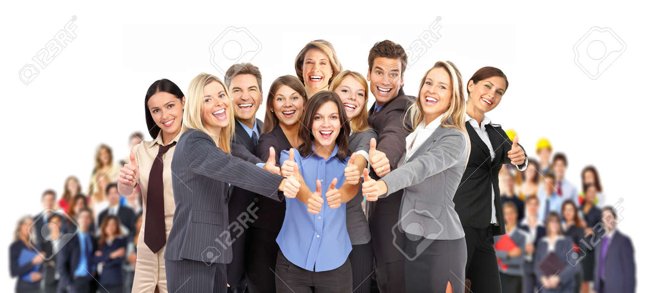 Group of business people. Business team. Isolated over white background Stock Photo - 8863915