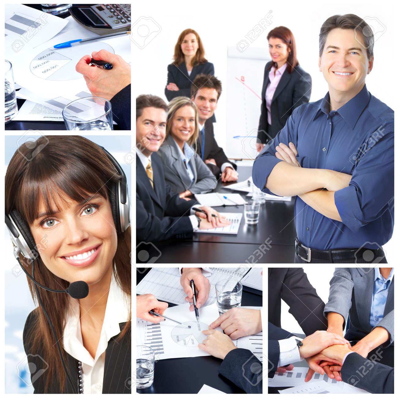 Business people. Business team. Teamwork Stock Photo - 8950298