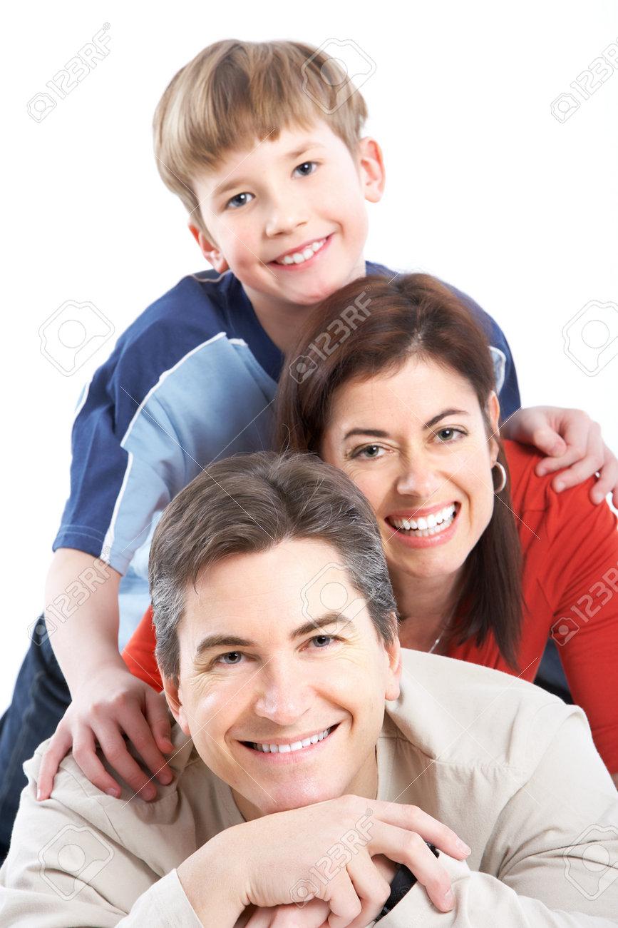 Happy family. Stock Photo - 8950636