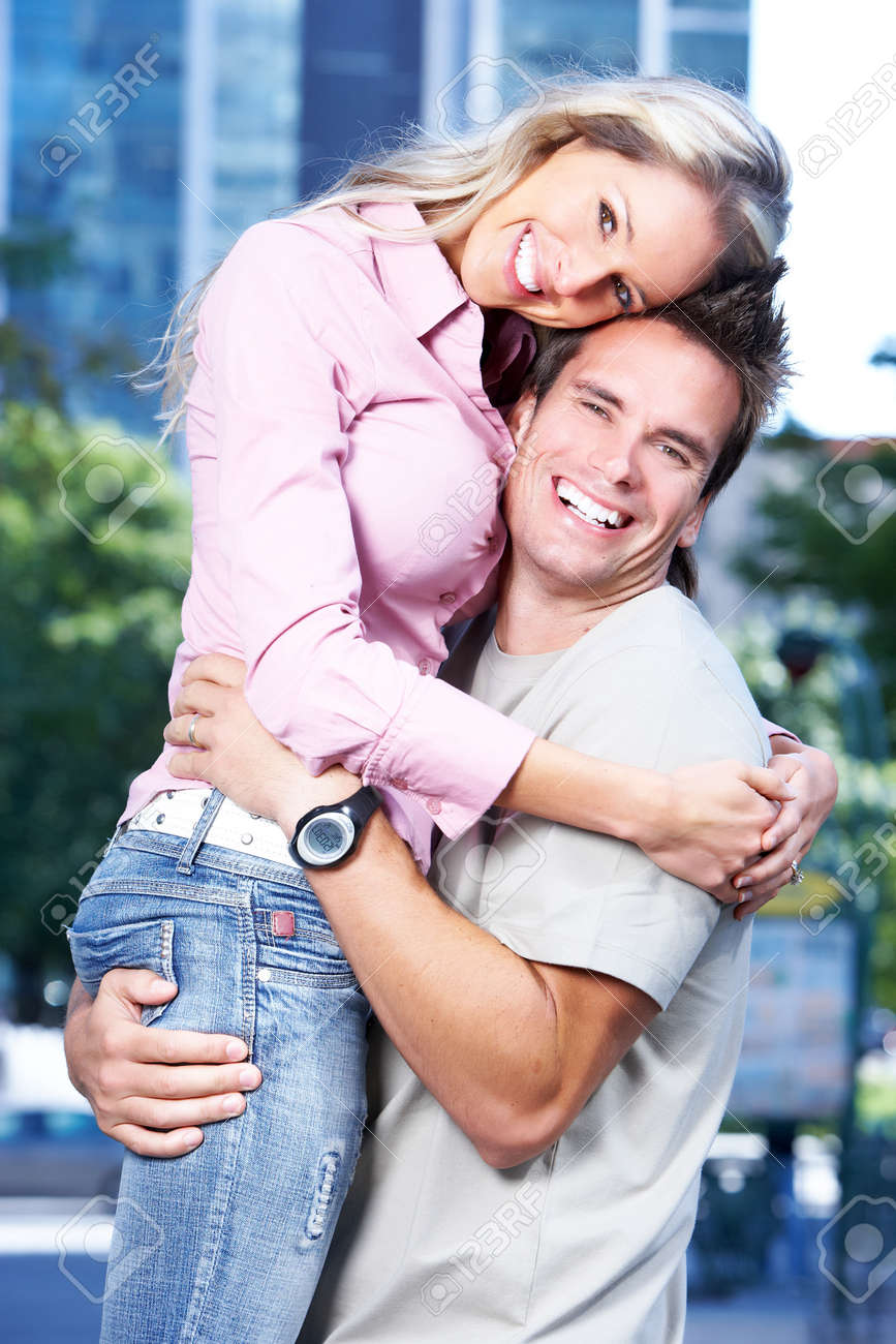 Happy couple in love. Stock Photo - 9367342