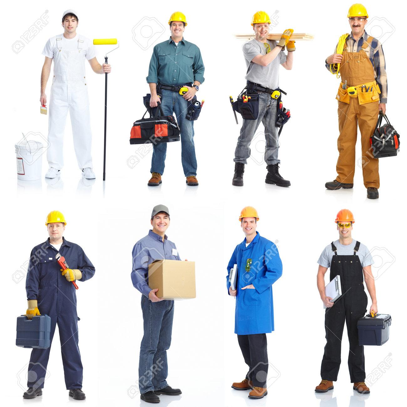 Contractors workers people. Stock Photo - 9467645