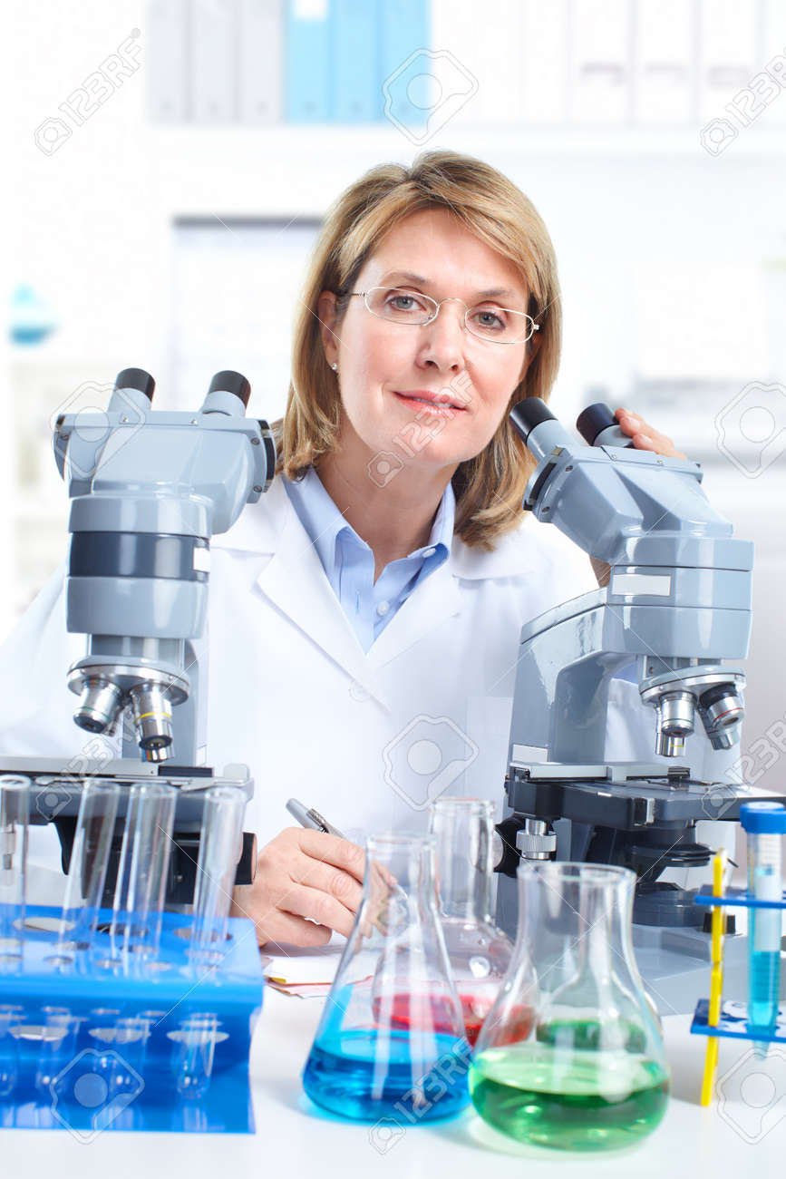 Medical doctor working at laboratory. Stock Photo - 10223871