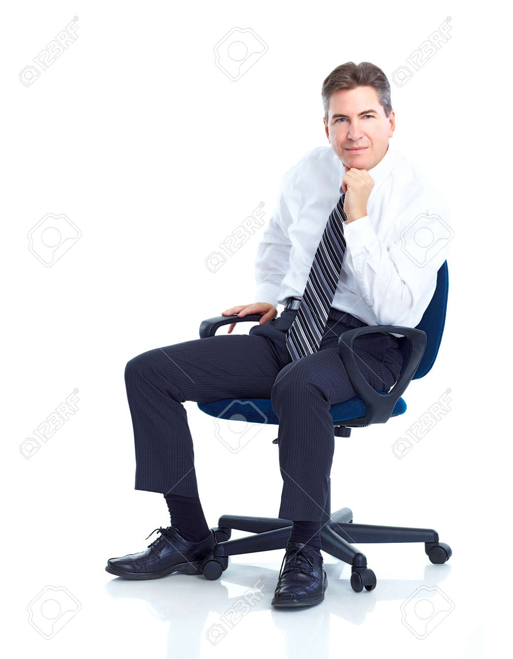 Business man.  Isolated over white background. Stock Photo - 10223865