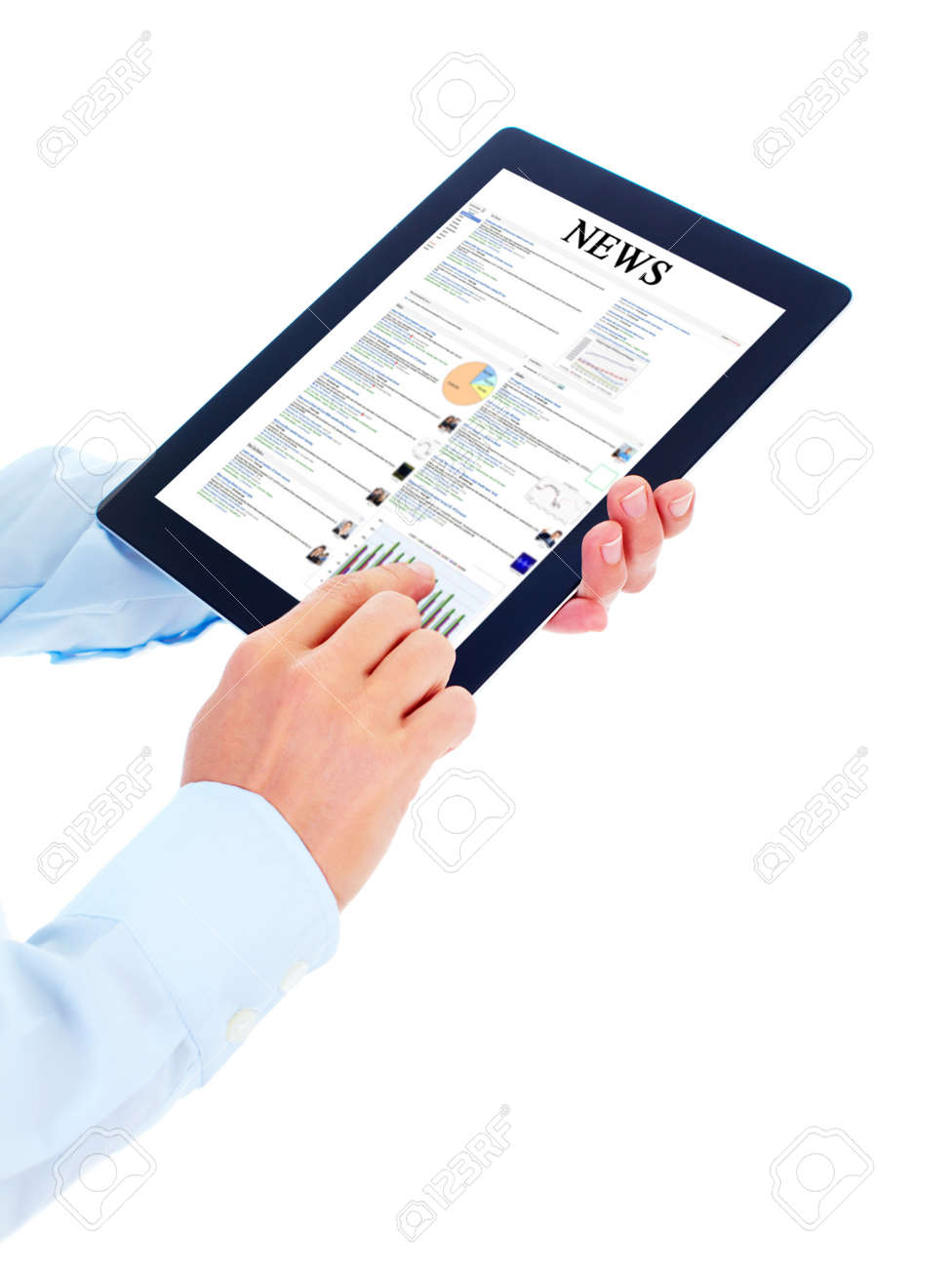 Tablet computer. Stock Photo - 10630188