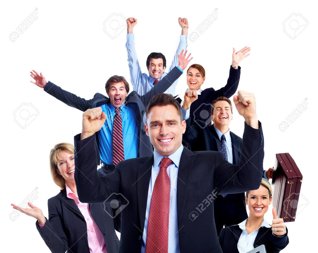 Happy business people Stock Photo - 10696598