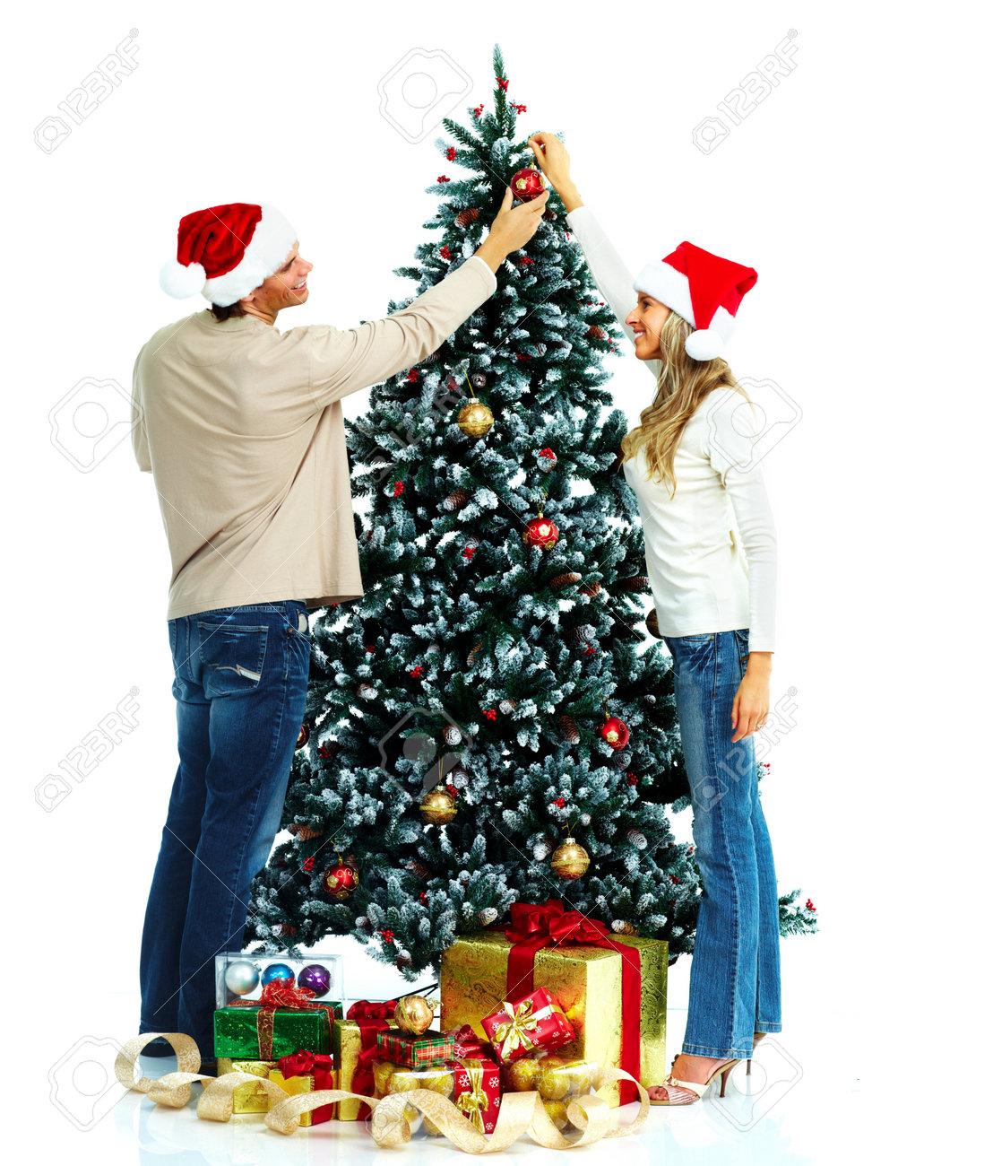 Couple and christmas tree. Stock Photo - 10757210