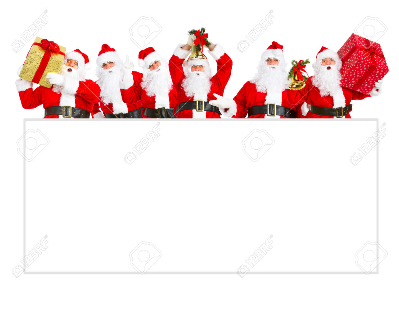 Santa Claus with poster. Stock Photo - 11081703