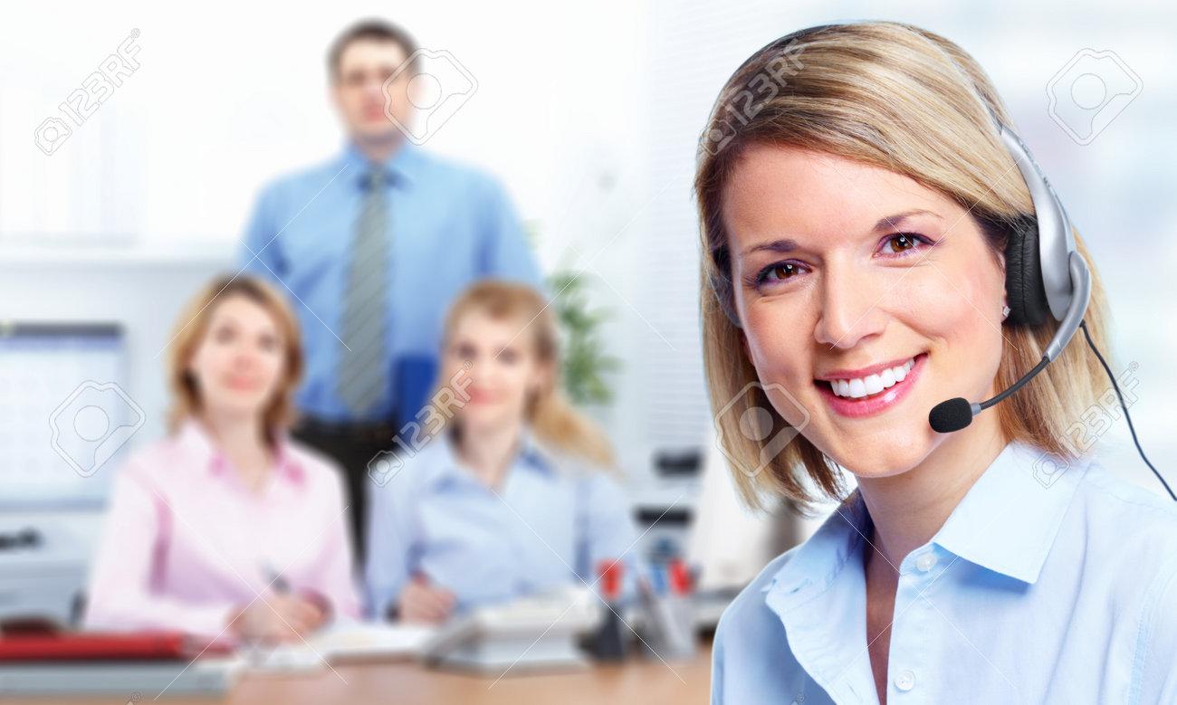 Call customer center operator. Stock Photo - 11270347