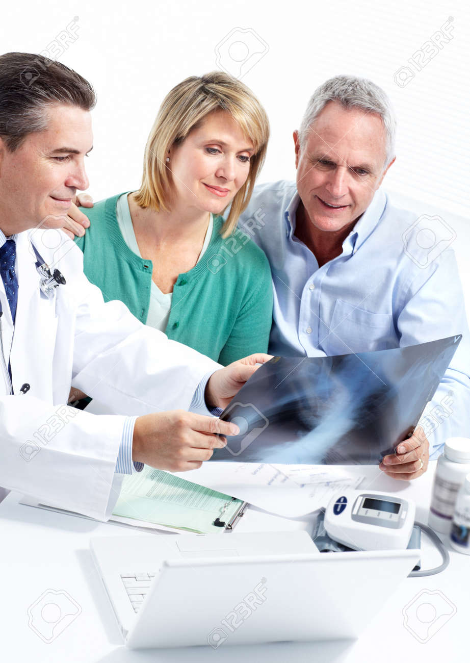 Doctor and patient senior couple. Stock Photo - 11454620