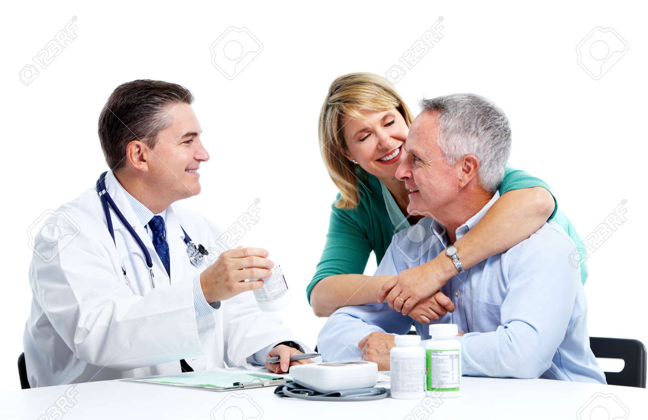 Doctor and patient senior couple. Stock Photo - 11454610