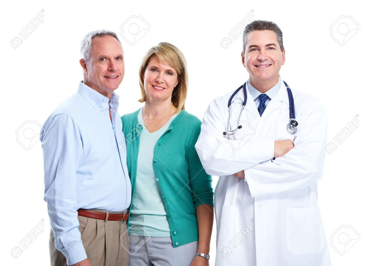 Doctor and patient senior couple. Stock Photo - 11454579