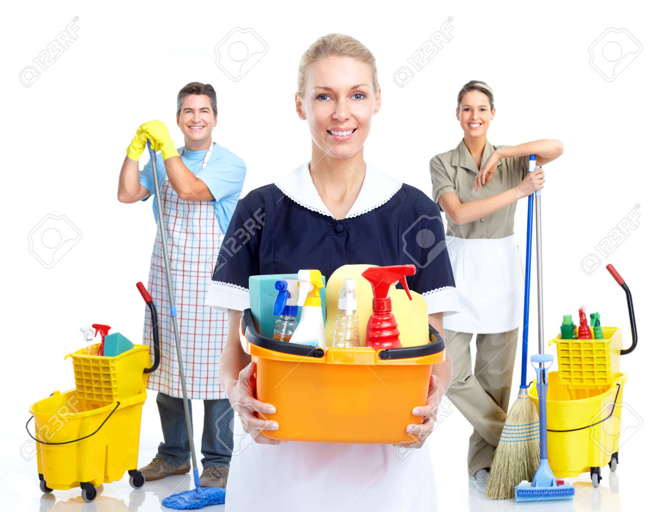 Young smiling cleaner woman. Stock Photo - 11478644