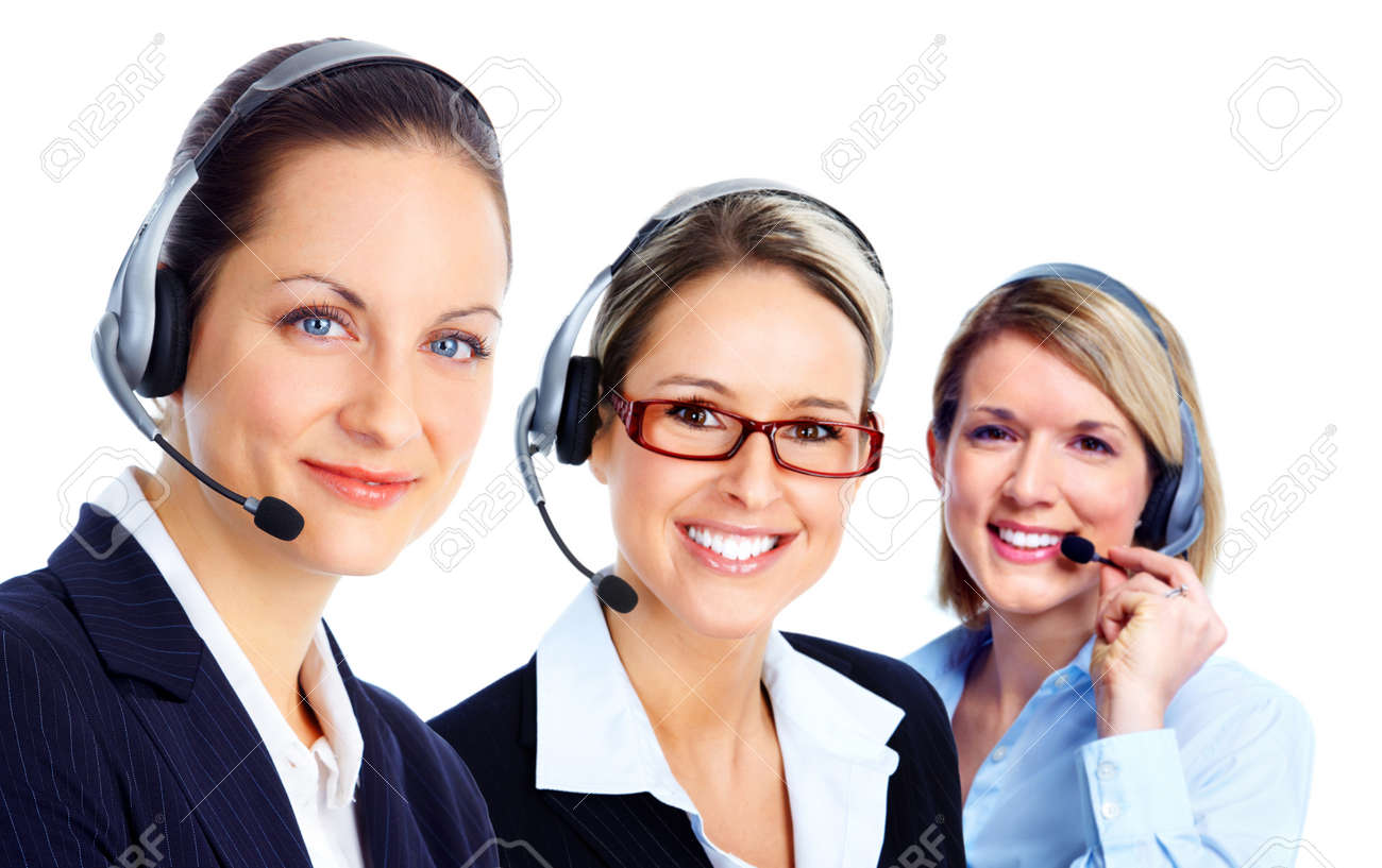 Call customer center operator. Stock Photo - 11622653