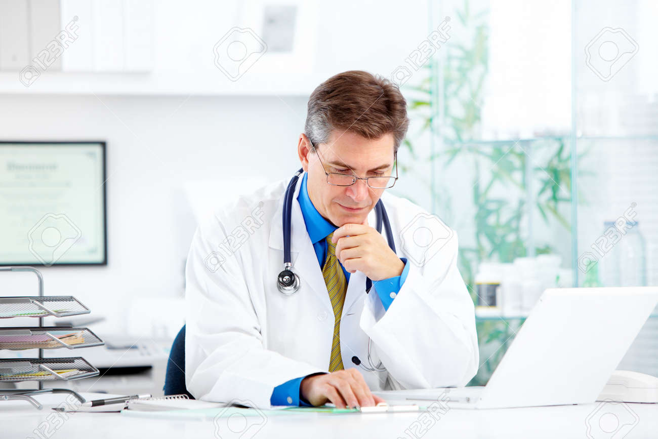 Medical doctor at the hospital. - 11861467
