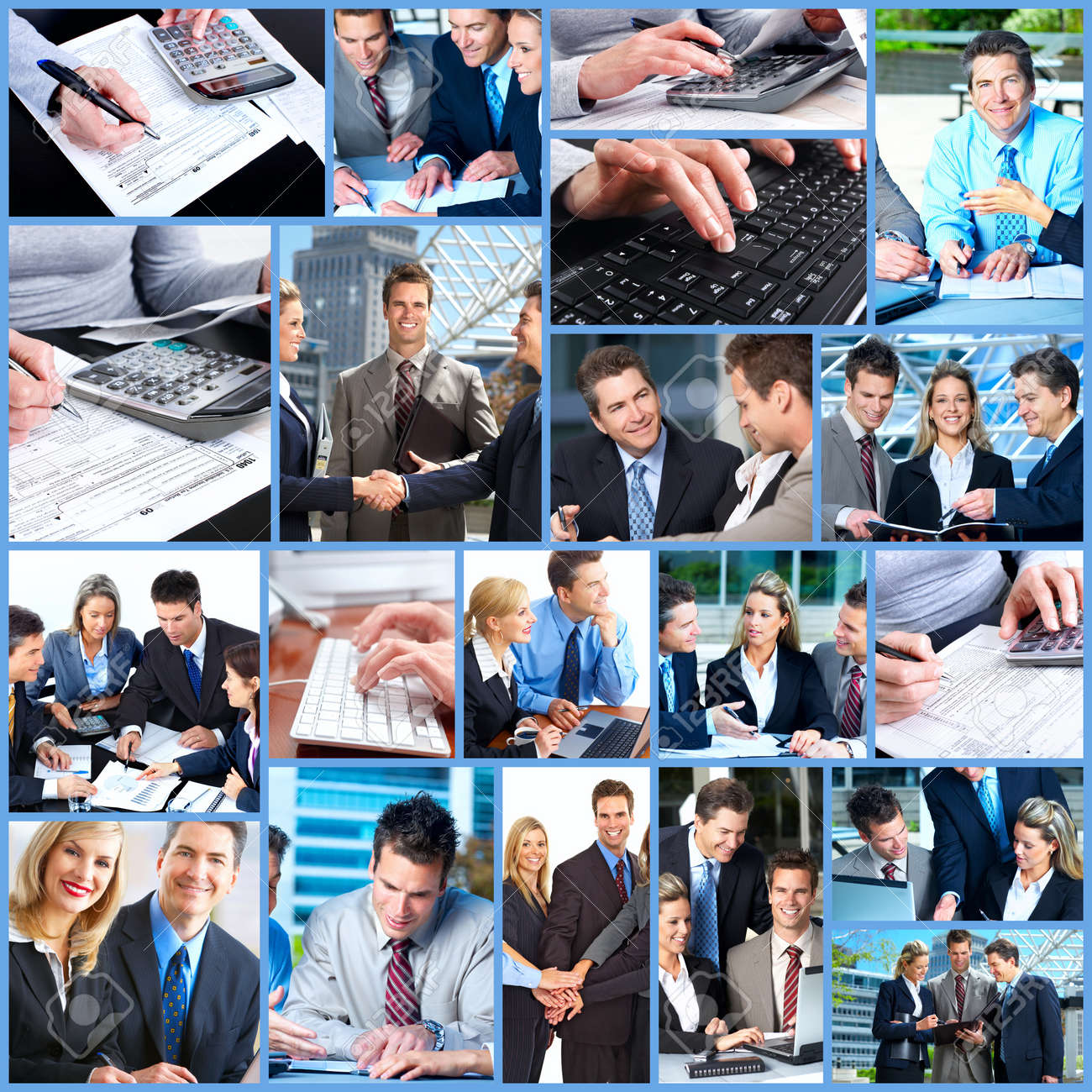Business people collage. Stock Photo - 12137667
