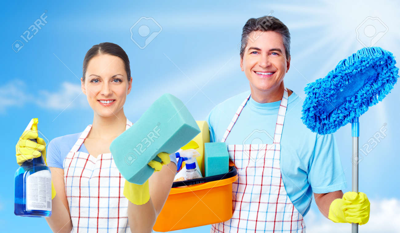 Professional cleaners team. Stock Photo - 12378901