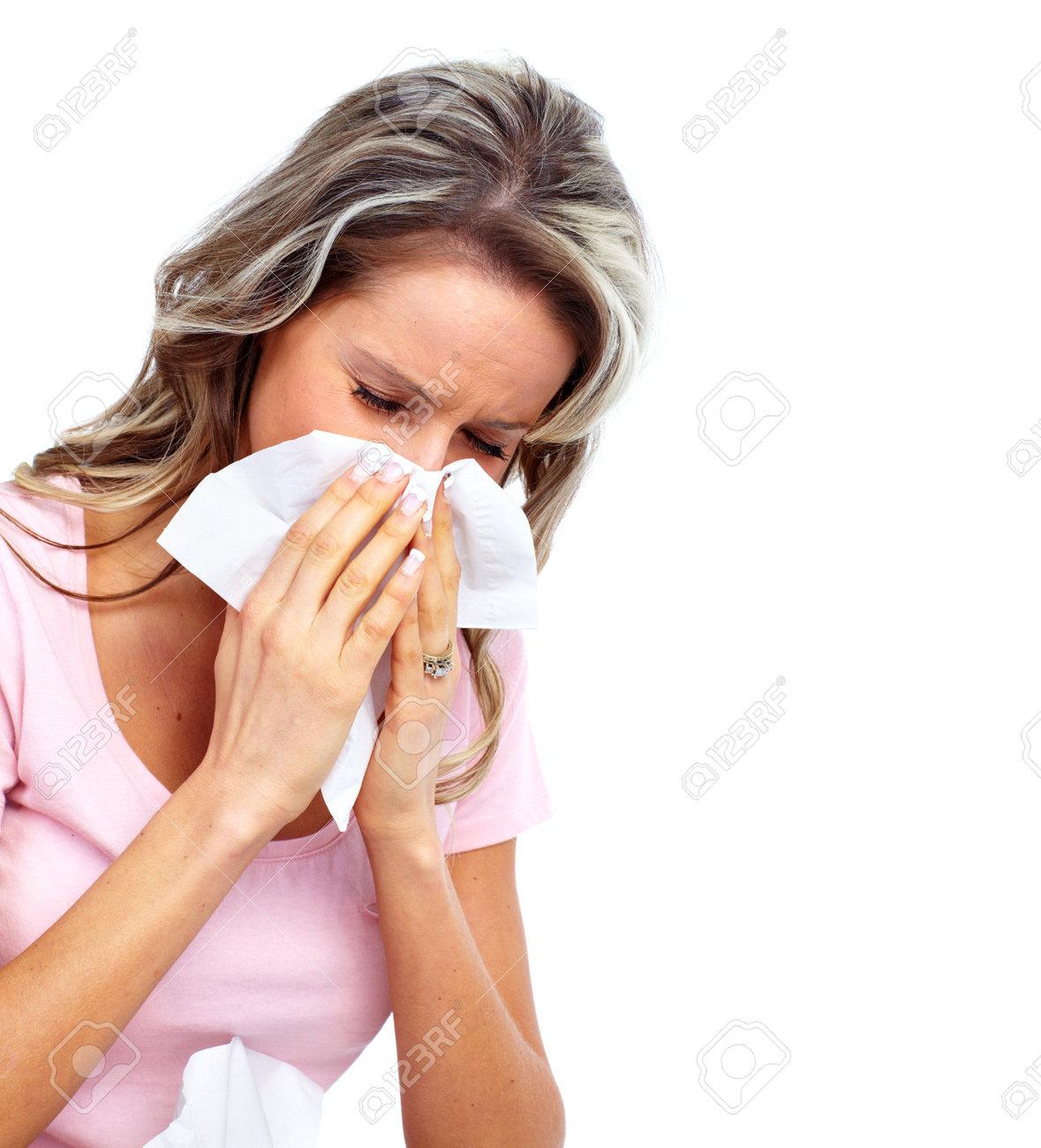 Woman having cold. Stock Photo - 12378946