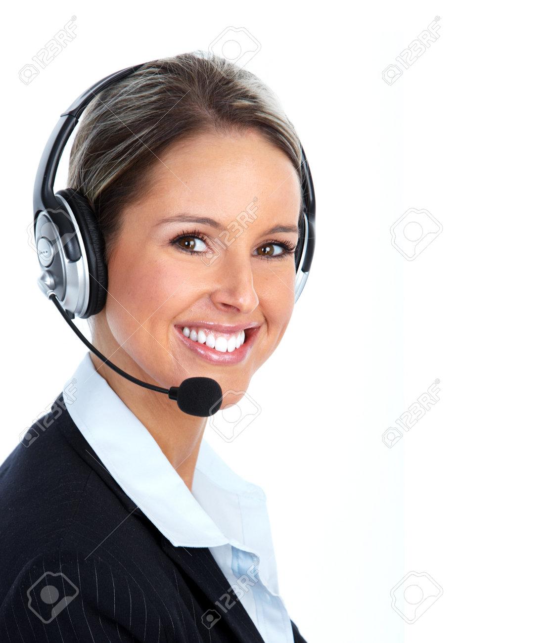 Call customer center operator. Stock Photo - 12379172