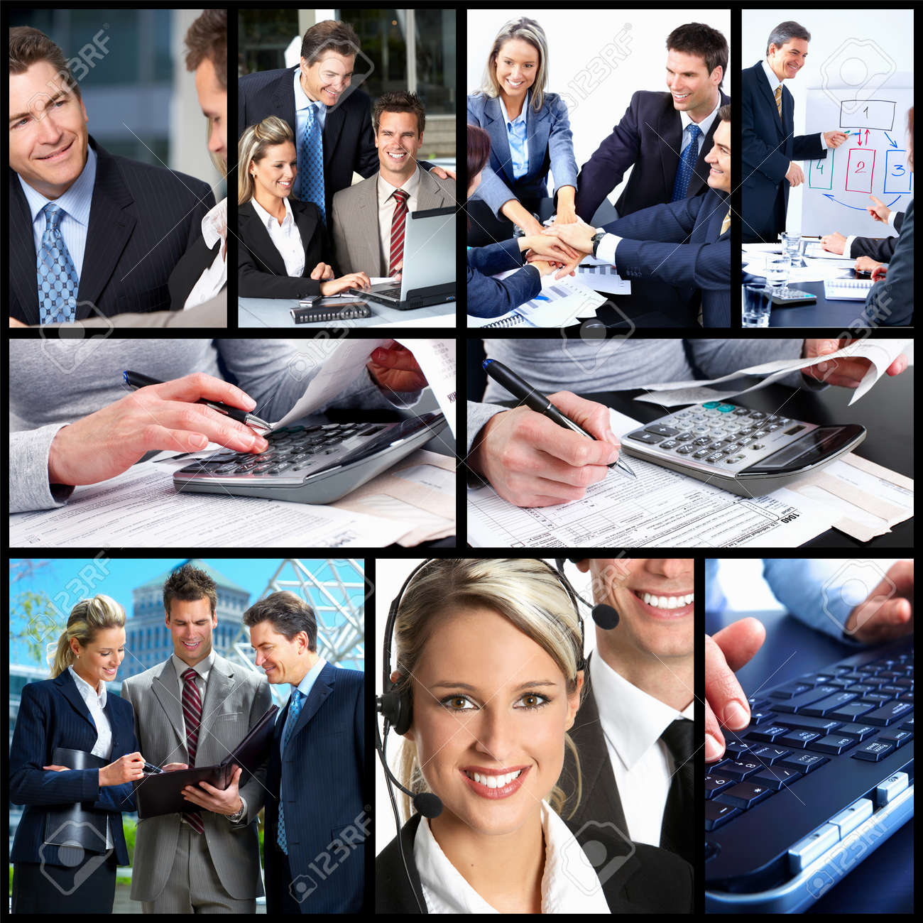 Business People Collage. Stock Photo, Picture And Royalty Free ...