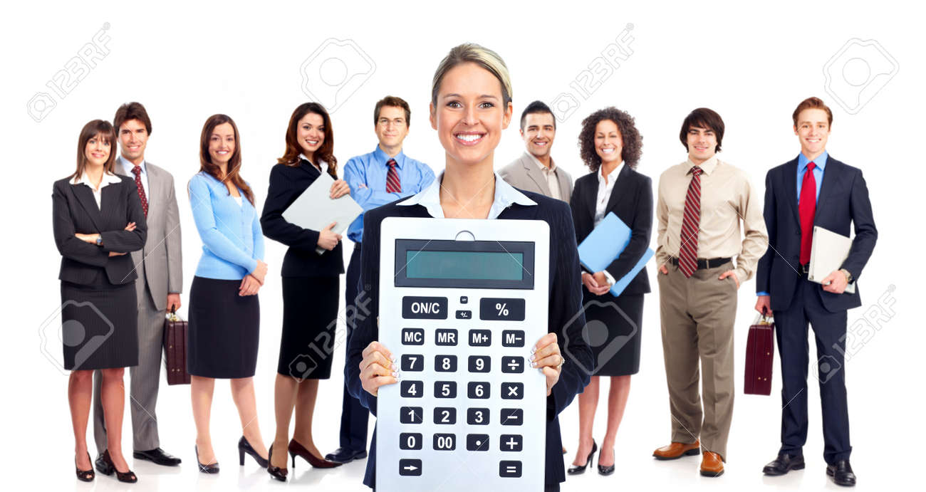 Accountant business woman Stock Photo - 12636914