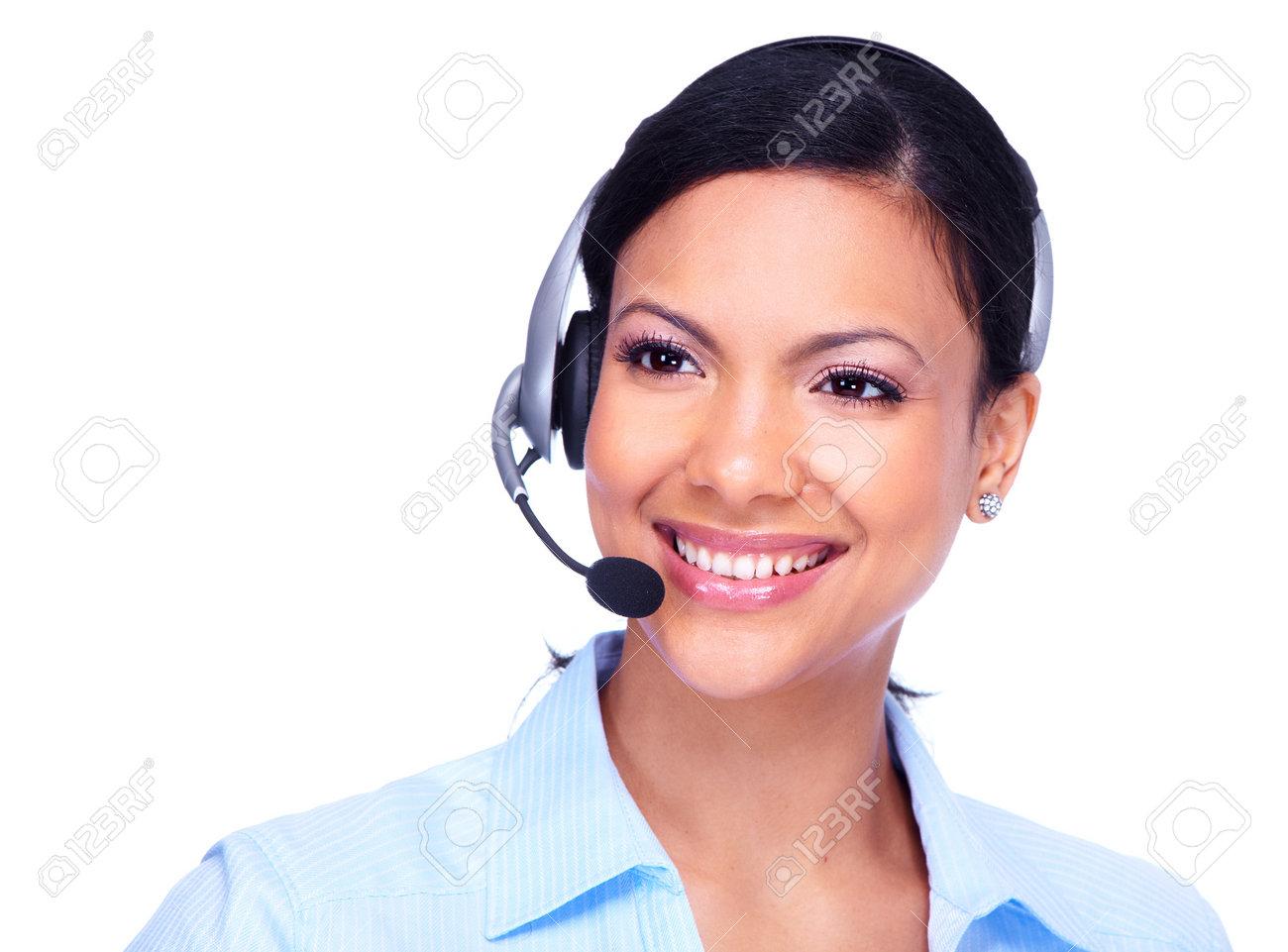 Call center operator business woman Stock Photo - 13388057
