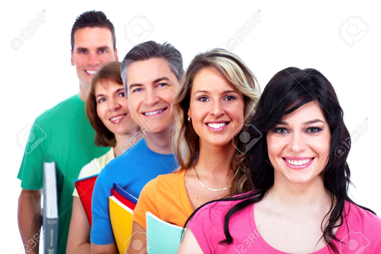 Group of happy students Stock Photo - 27257941