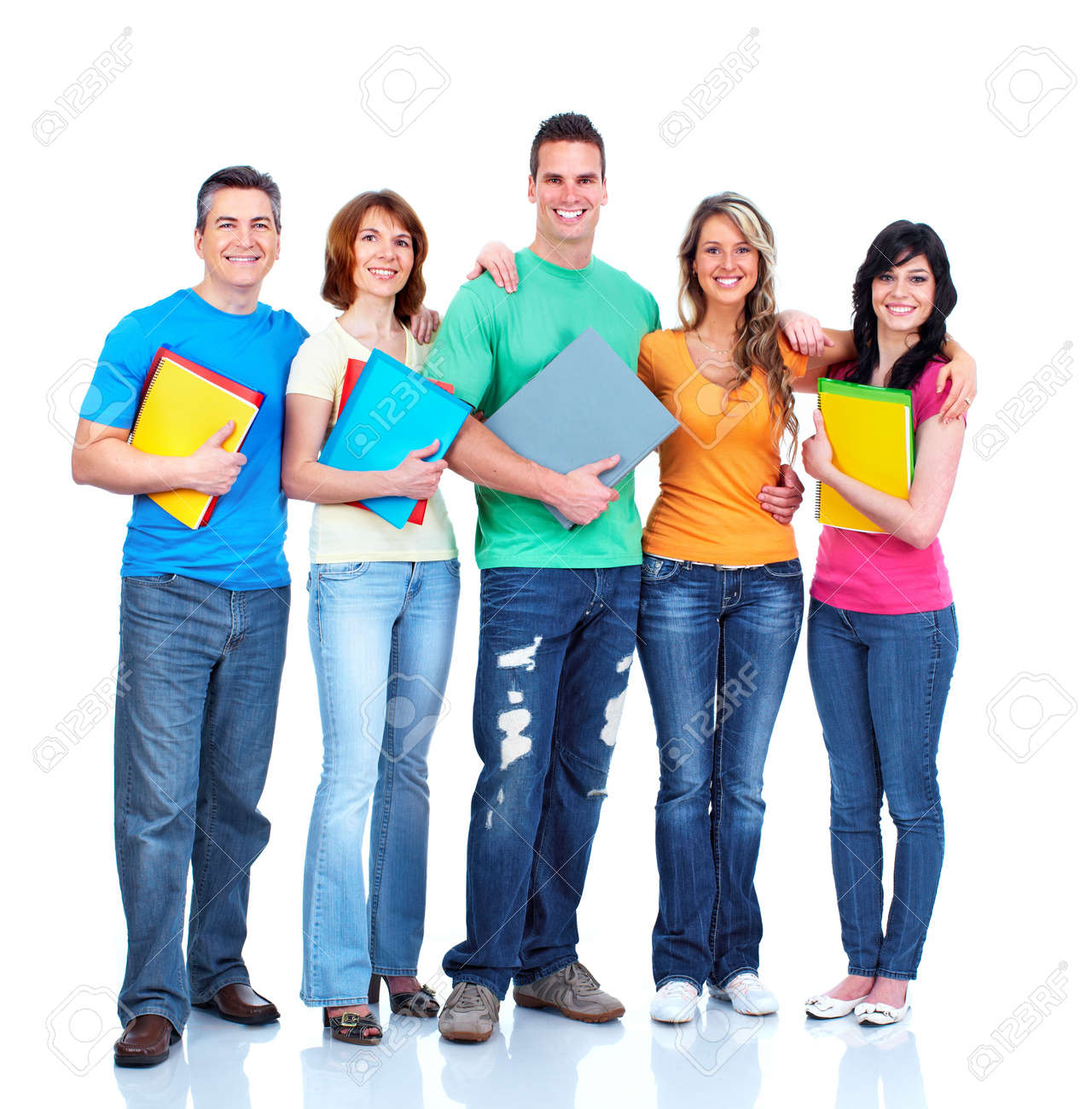 Group of students teens Stock Photo - 13598411