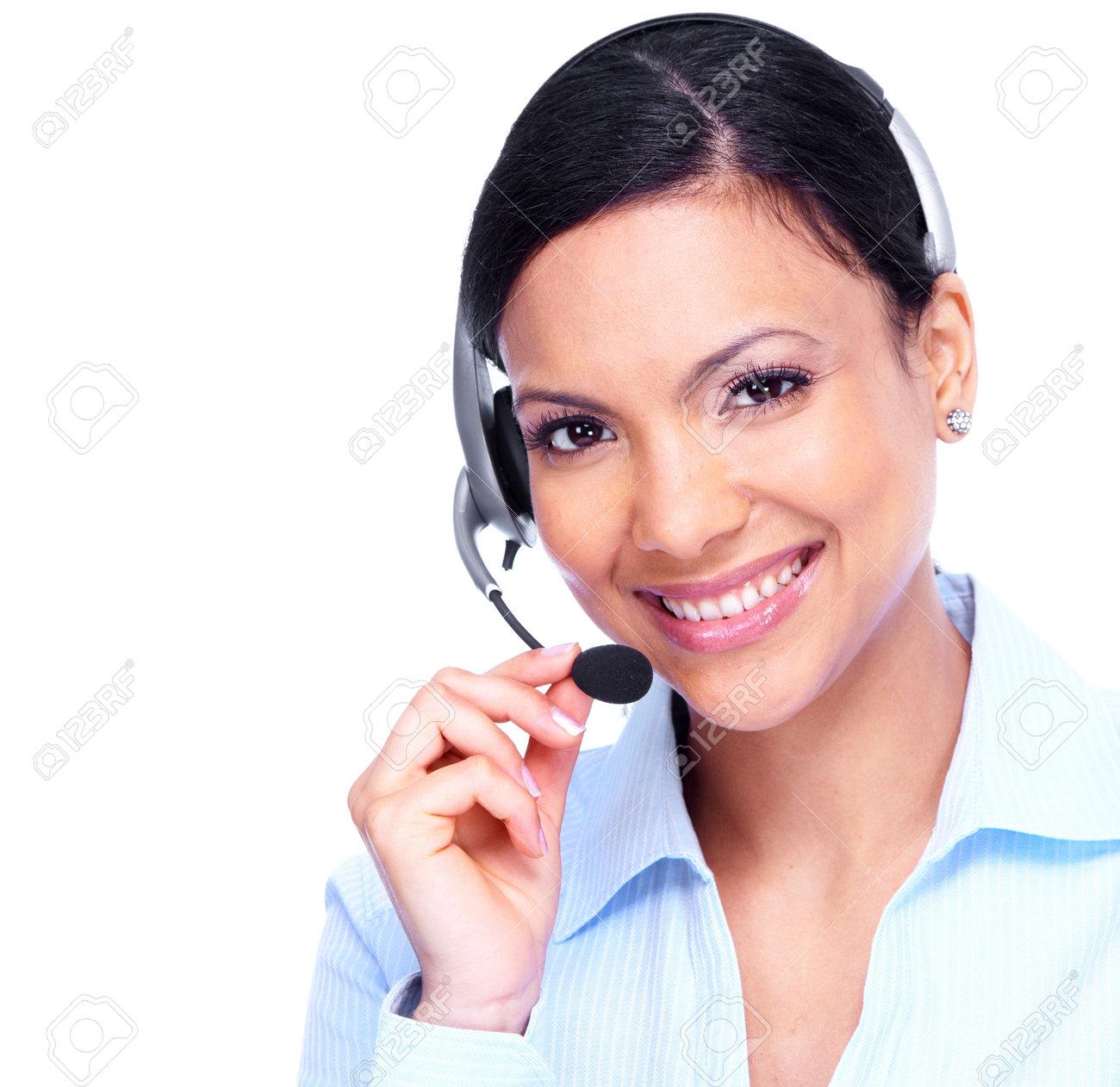 Call center operator business woman Stock Photo - 13929544