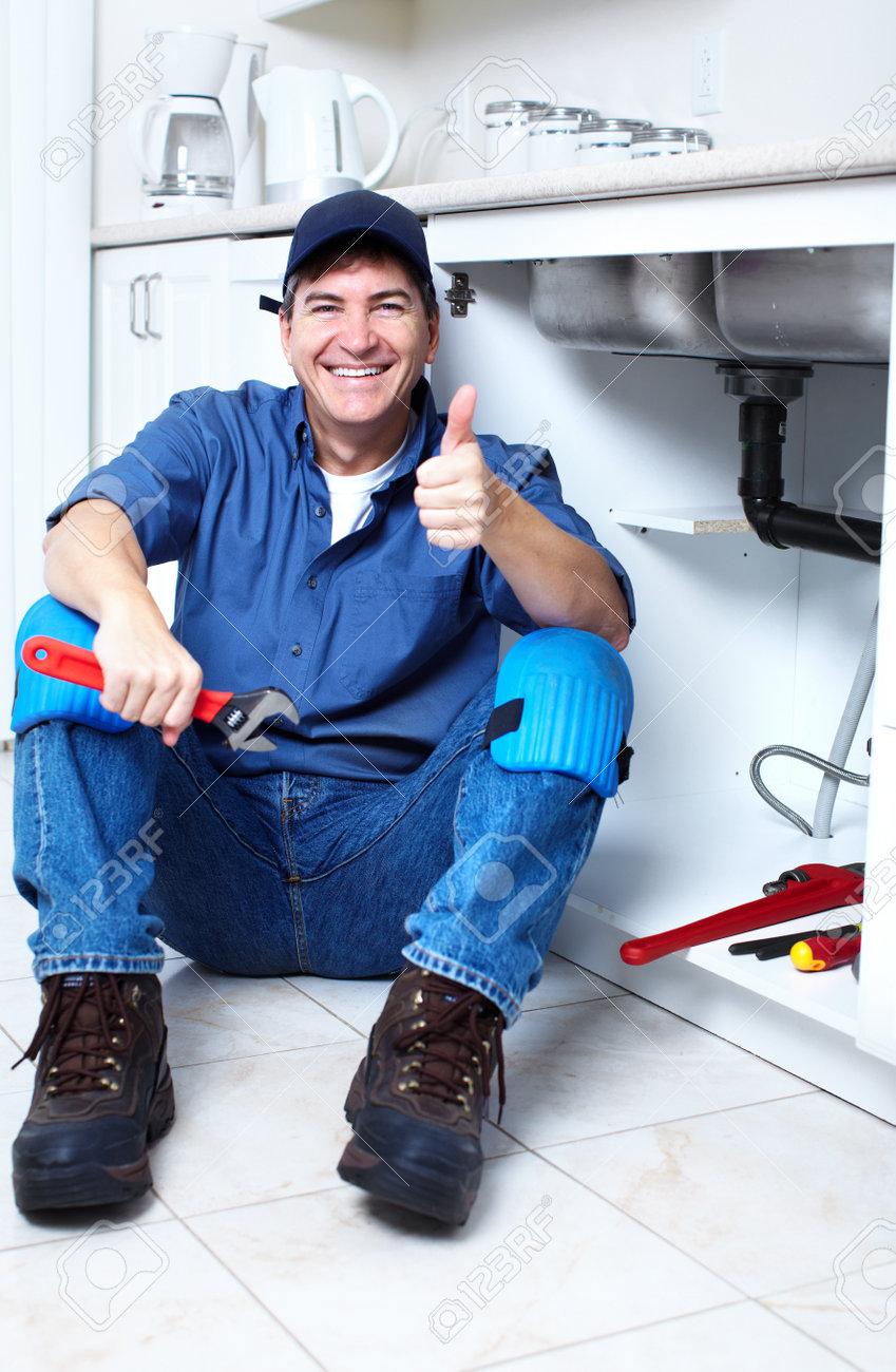 Professional plumber Stock Photo - 14107400