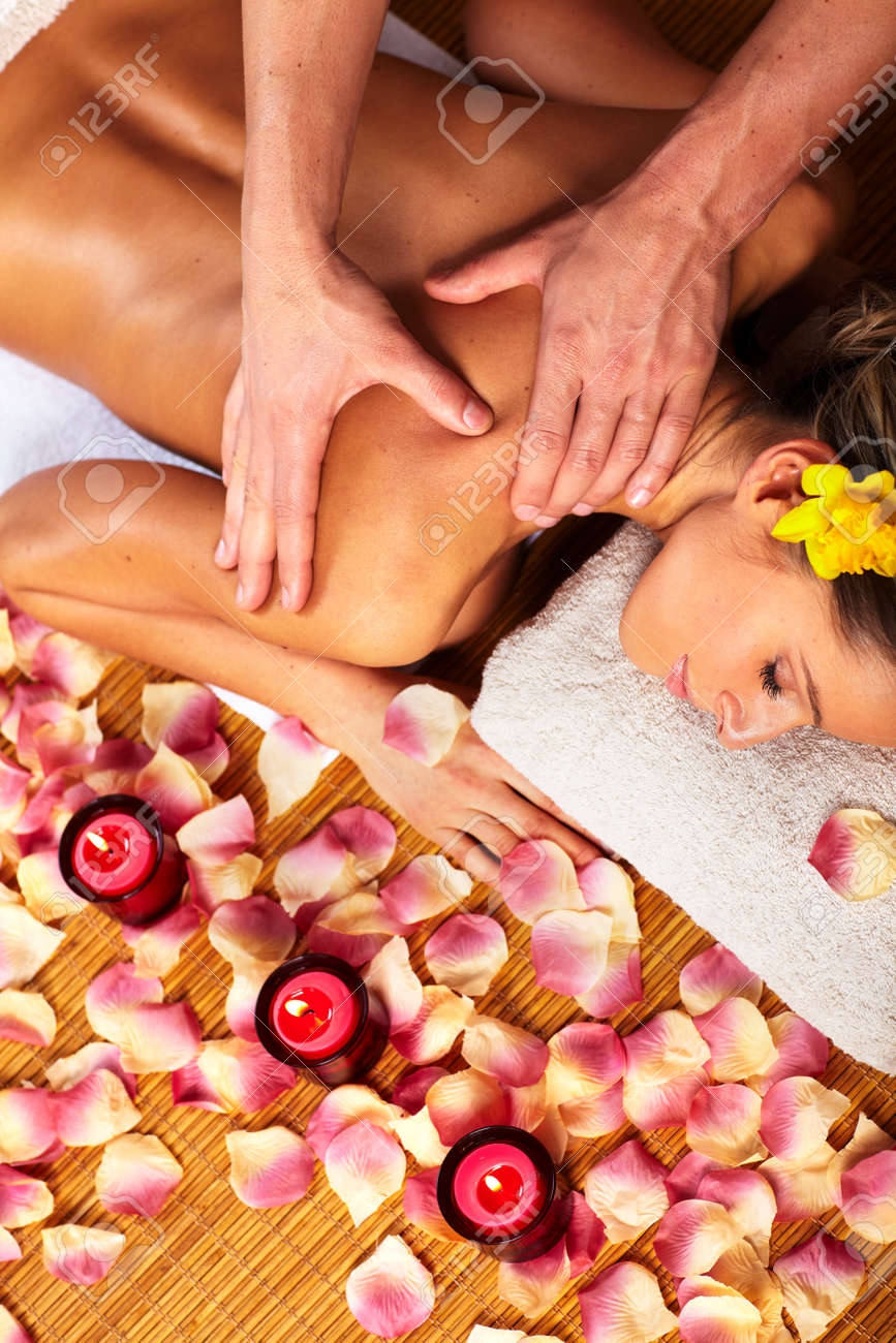 Young woman in Spa massage salon Stock Photo - 14550226