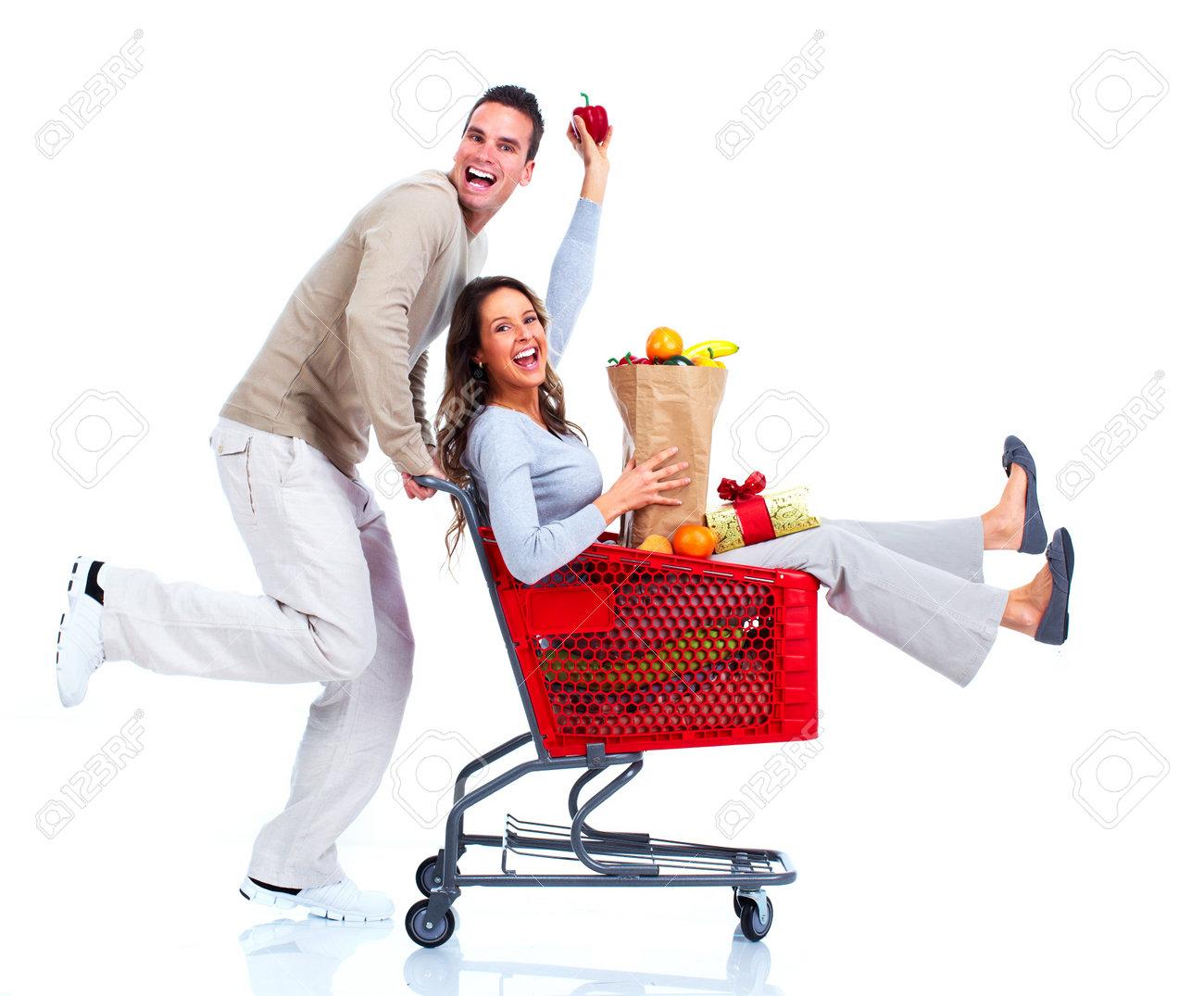 Shopping couple Stock Photo - 14936678