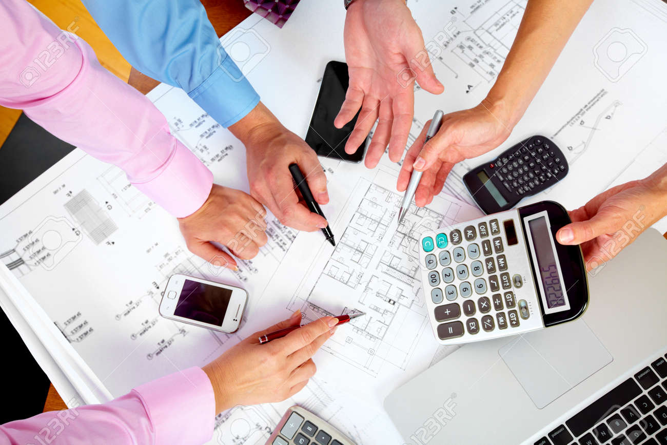 Business people group hands Stock Photo - 15396890