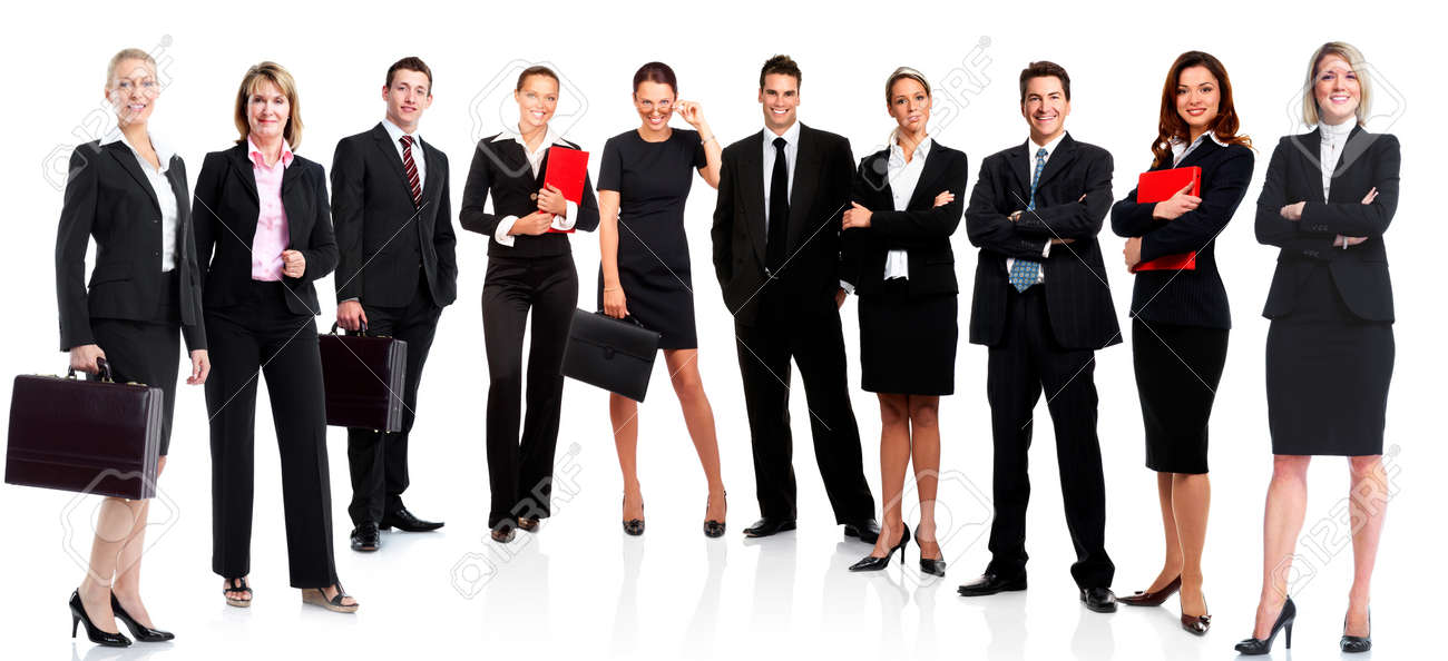 Group of business people  Business team  Isolated over white background Stock Photo - 16277413
