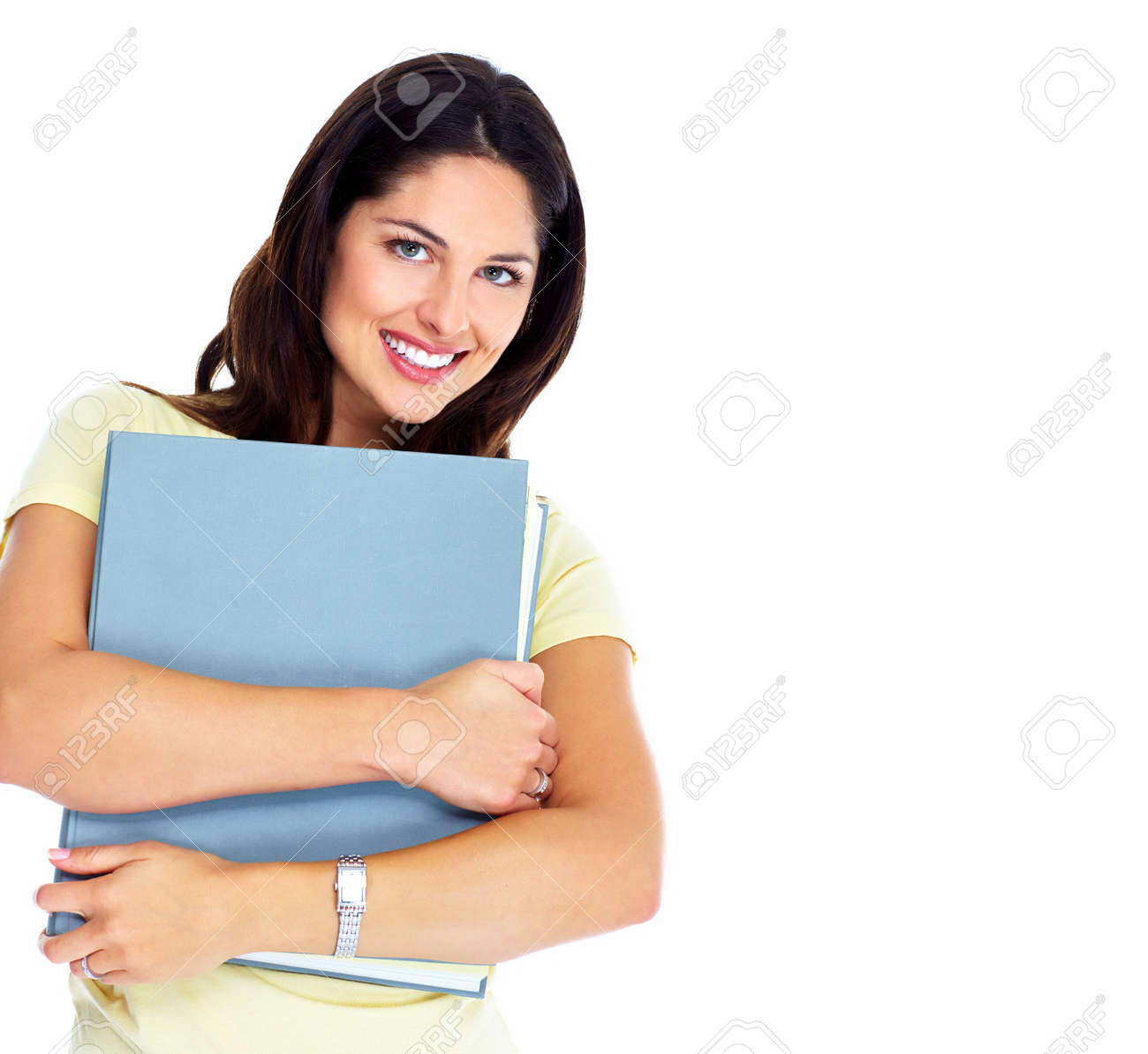 Student girl with book Stock Photo - 16336245